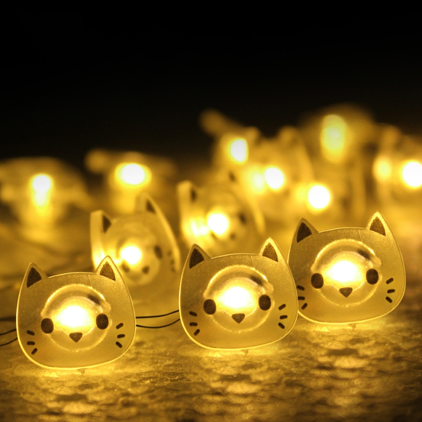 Elinkume-Cartoon-2M-LED-String-Light-20LEDs-Cat-Copper-Wire-LED-Fairy-Light-Battery-Christmas-Wedding-1