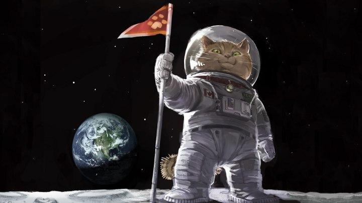 Cartoons_Cat_astronaut_on_the_moon_094098_